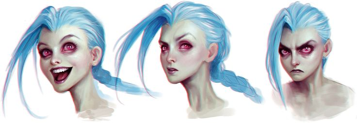 Jinx concept art, League of Legends artbook