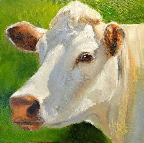 Norma Wilson Original Oil Kerry Cow Farm Animal Painting Art, painting by artist Norma Wilson