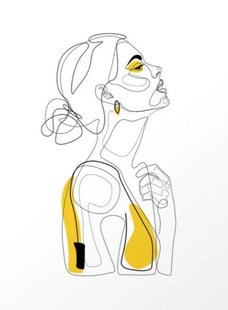 """Color Beauty"" by Explicit Design  #profile #face #girl #line-drawing #one-line  – Harper Smith"