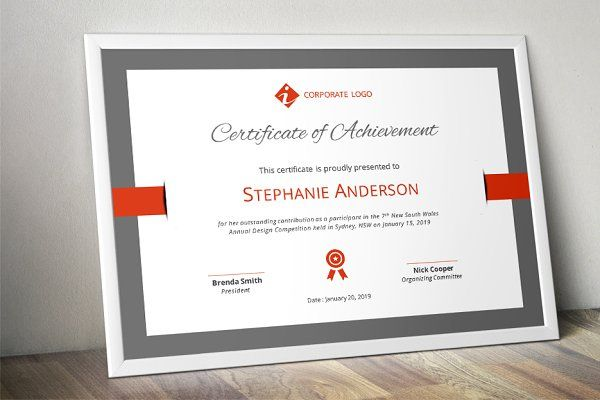 Elegant certificate template (docx) - Stationery