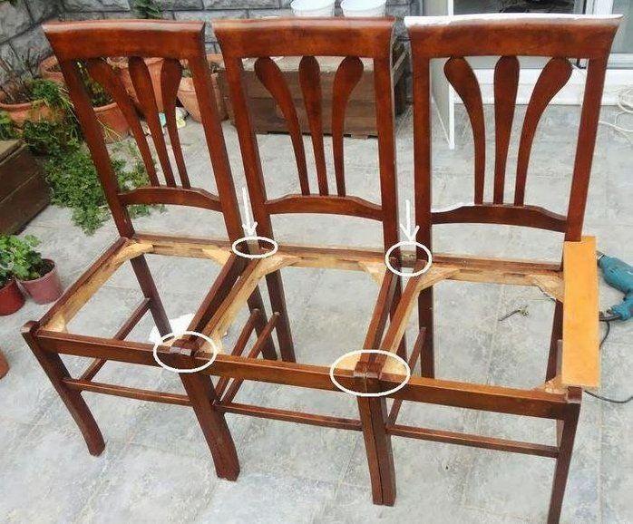 Что сделать из старых стульев.