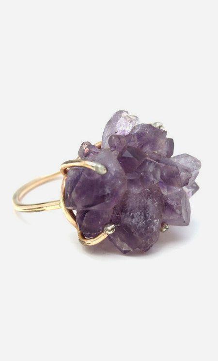 Jewelry | Jewellery | ジュエリー | Bijoux | Gioielli | Joyas | Art | Arte | Création Artistique | Artisan | Precious Metals | Jewels | Settings | Textures | Raw Amethyst Ring