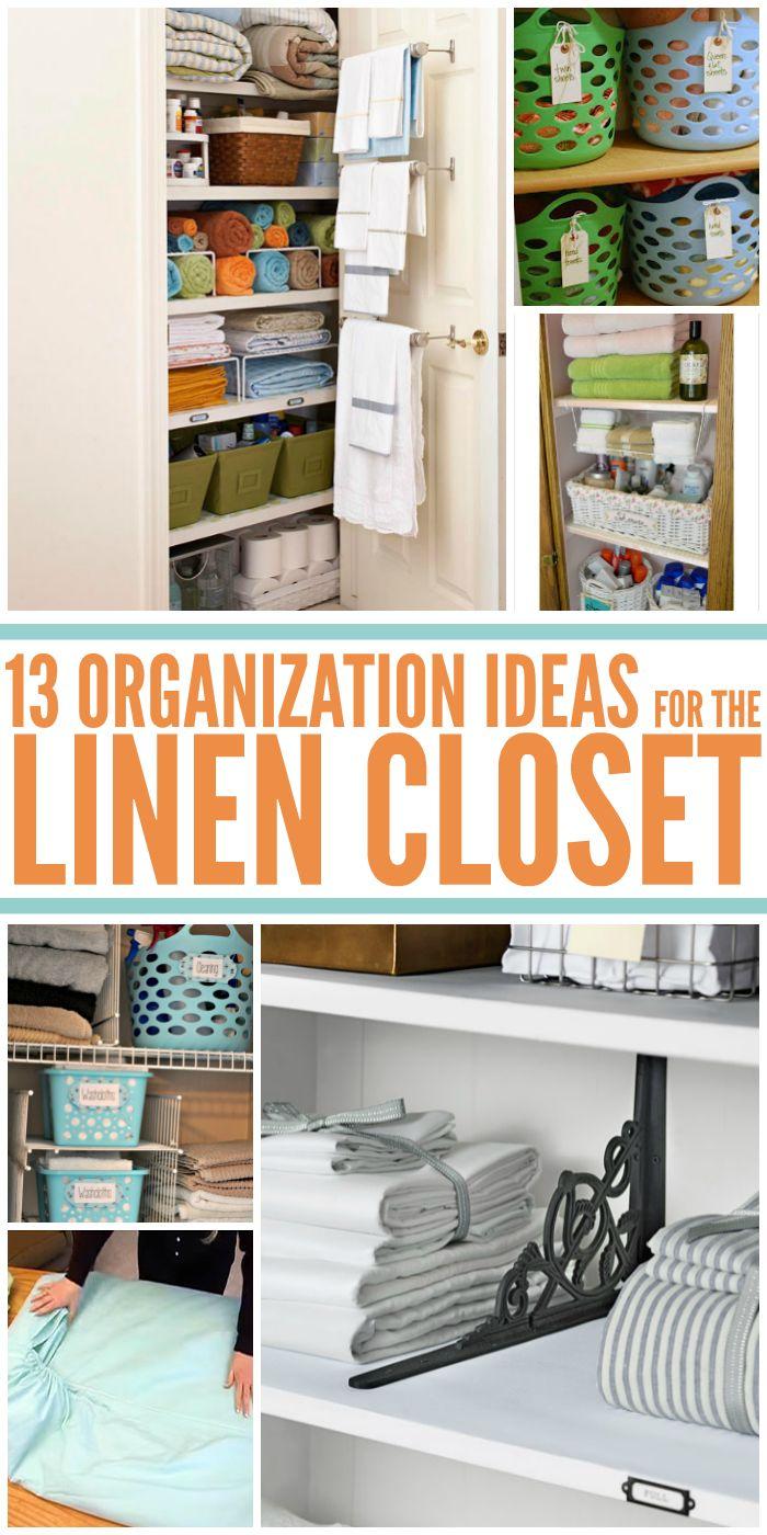 Linen Closet Organization small home / BIG IDEAS