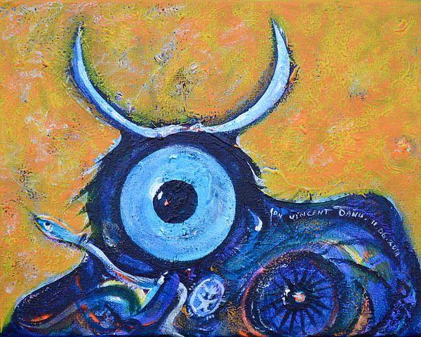 The imaginary portrait of a bull: bull's eye!