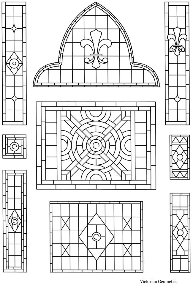 Victorian Stained Glass Designs CD-ROM and Book