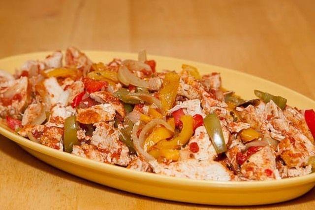 Tacokryddad kyckling med grönsaker (Crock Pot)