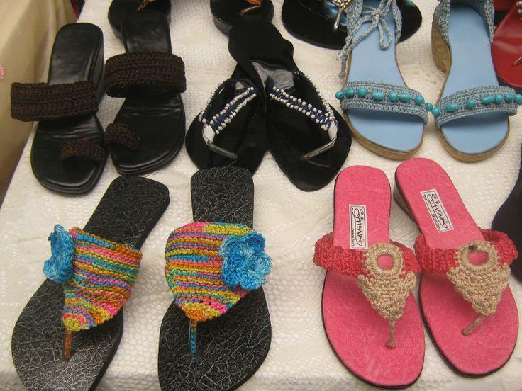 Sandalias y diademas tejidas a crochet y en jicara diy - Diademas a crochet ...