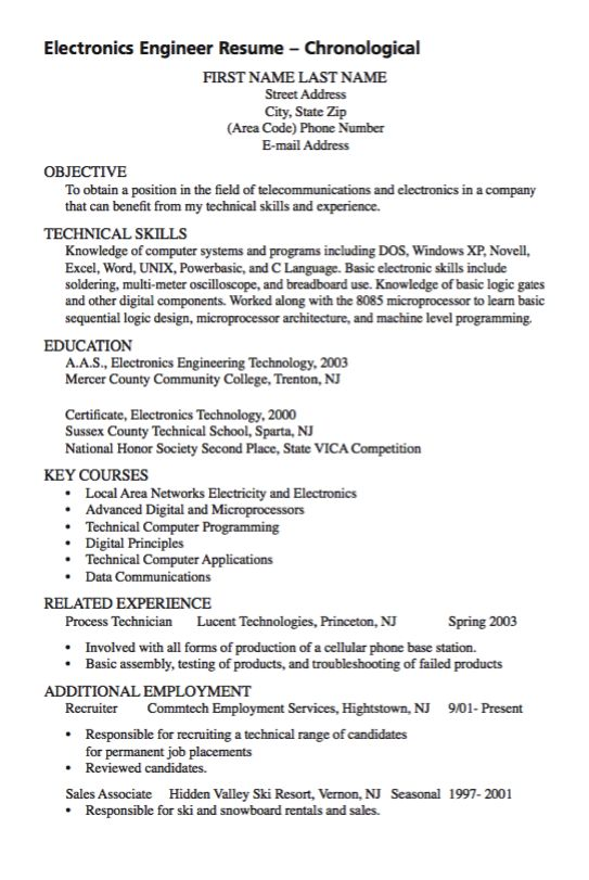Mer enn 25 bra ideer om Vet Tech Job Description på Pinterest - electronic engineer resume sample