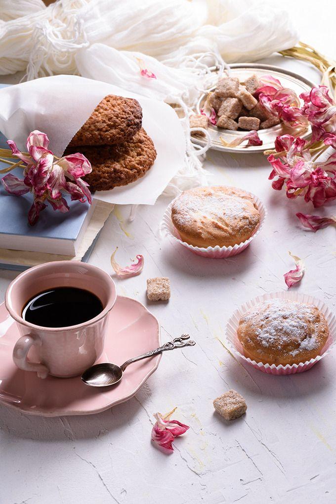 Baked goods with coffee by Iuliia Leonova on @creativemarket