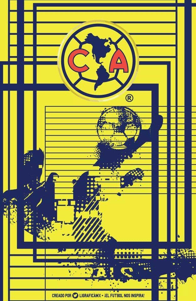 Club America y silueta Águila.  Fútbol Soccer - Ozzy