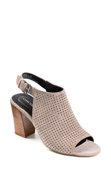 Adam Tucker by Me Too 'Meridia City' Perforated Slingback Peep Toe Sandal (Women) | Nordstrom