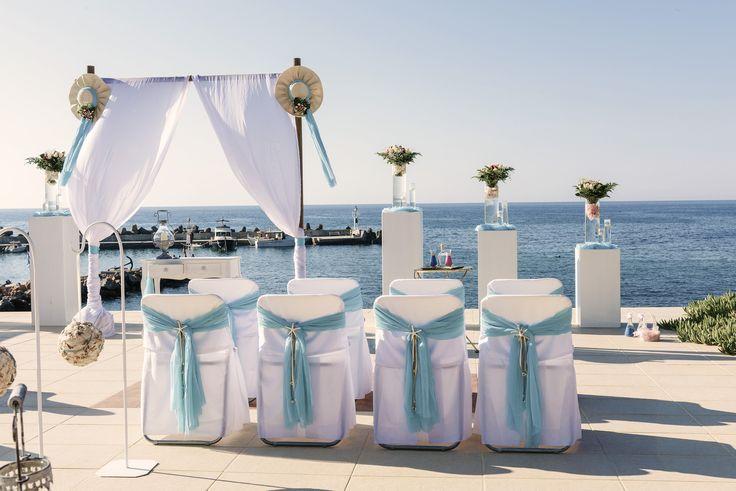 #wedding #decor #guests #seats #sea #white #starfish #romantic #Crete