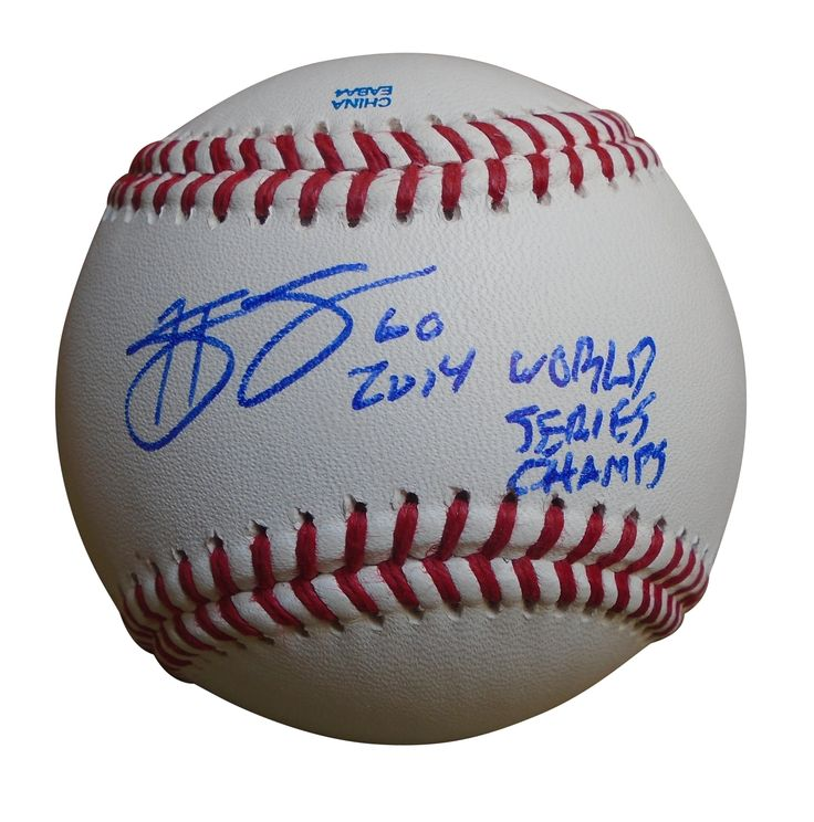 Hunter Strickland Autographed Rawlings ROLB Baseball w/ World Series Inscription, Proof Photo