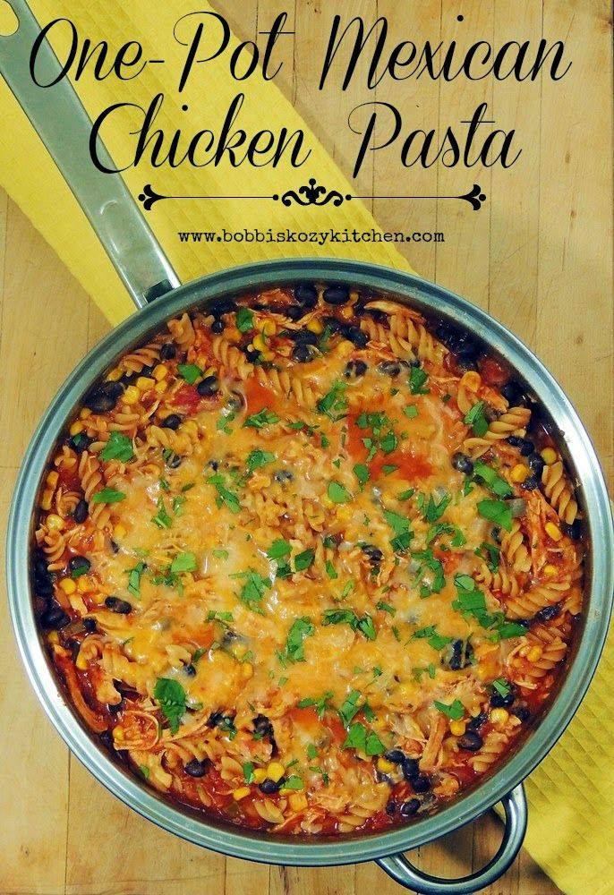 One-Pot Mexican Chicken Pasta
