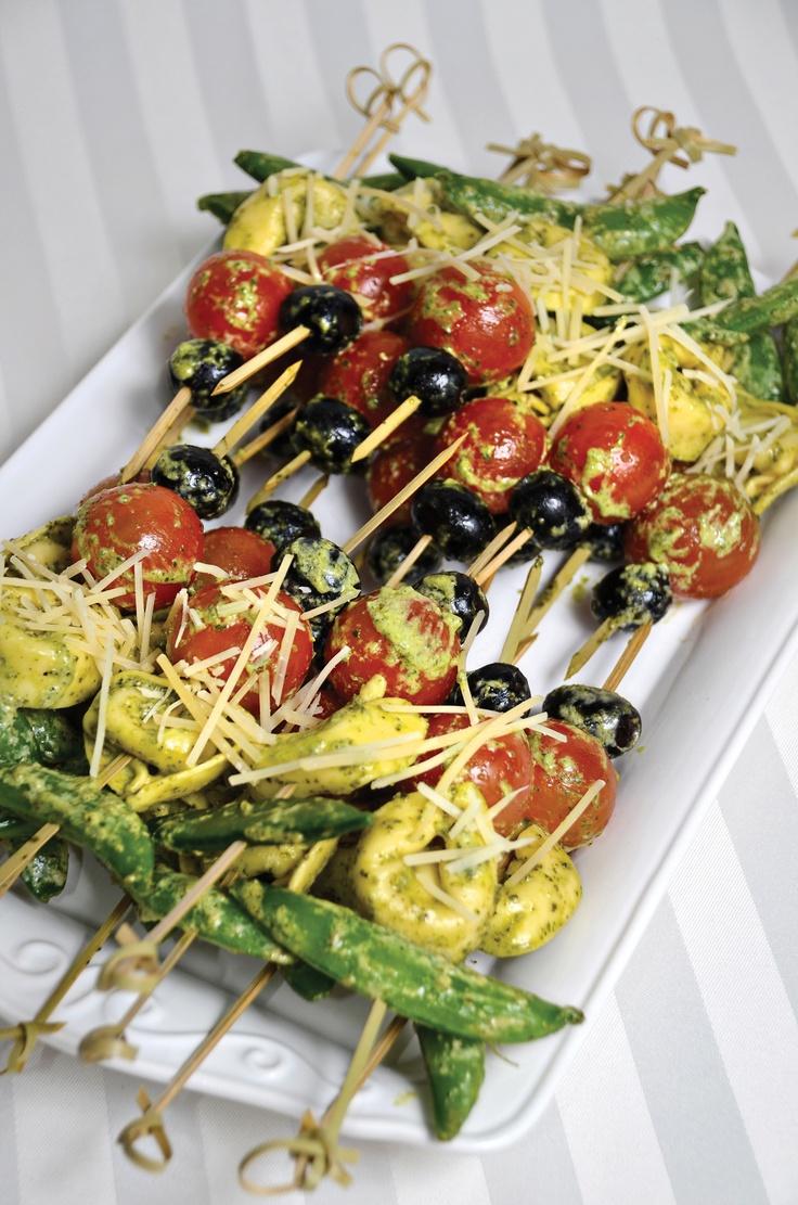 Lemon Pesto Vegetable Skewers Recipe — Dishmaps