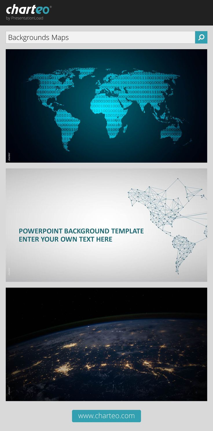 To present international topics, make use of our map background templates.
