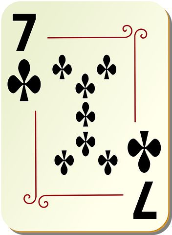 Seven, Clubs, Play, Poker