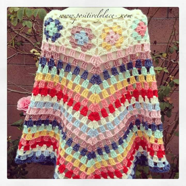 73 best ponchos images on Pinterest | Ponchos, Punto de crochet y ...