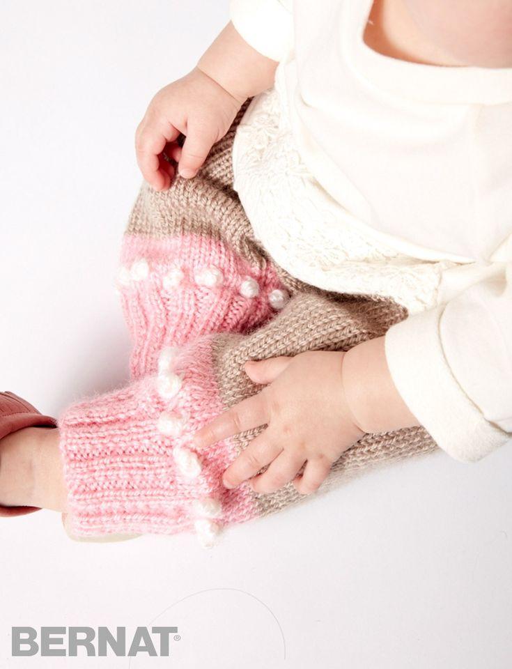 The Little Dipper Pants are an intermediate pattern, knit in Bernat Softee Ba...
