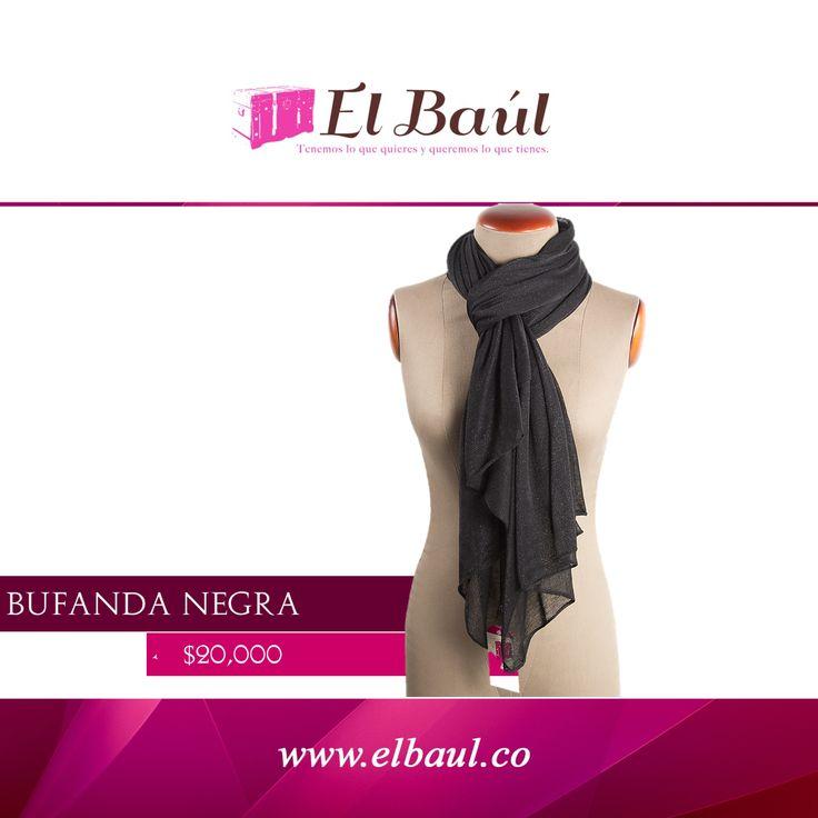 En elbaulcolombia tenemos una enorme colección de accesorios para ti $20,000 http://elbaul.co/Productos/1978/Bufanda-negra--