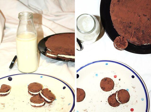 """žít vege: nepečené plněné sušenky/dortík v """"oreo stylu"""""""
