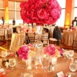 Tall Wedding Centerpieces – Pink and Orange