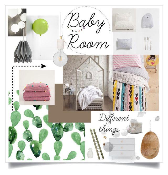 """Baby Room"" by masha-petrushova on Polyvore featuring interior, interiors, interior design, дом, home decor, interior decorating, Zara Home, Brokis, ferm LIVING и Sika"