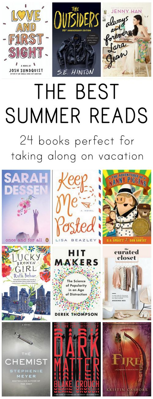 A summer read for everyone, whether you want chick-lit, a great memoir, non-fiction, or a page-turning novel!