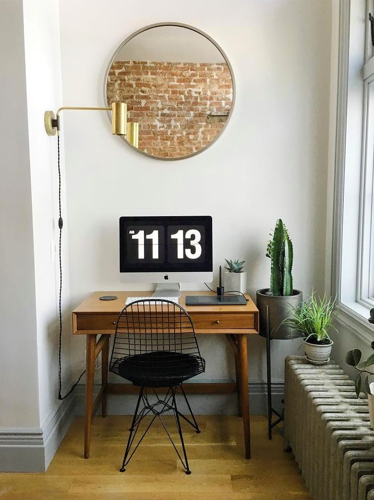 a well-accessorized home office nook.