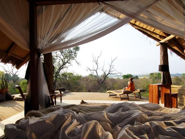 The lodge is ideal for families or groups of friends looking to experience this pristine wilderness in absolute privacy. Kiba Point, #Tanzania #Romantic #Beds #africa #weloveafrica