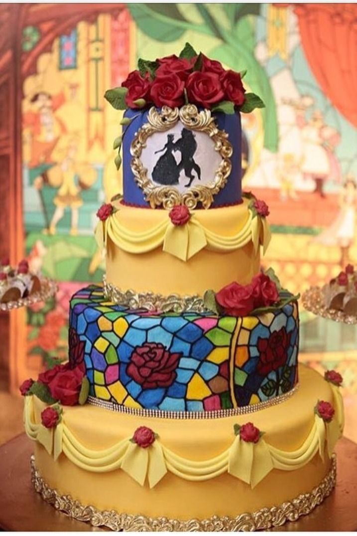 Beauty And The Beast Cake Inspiration For Your Quinceanera