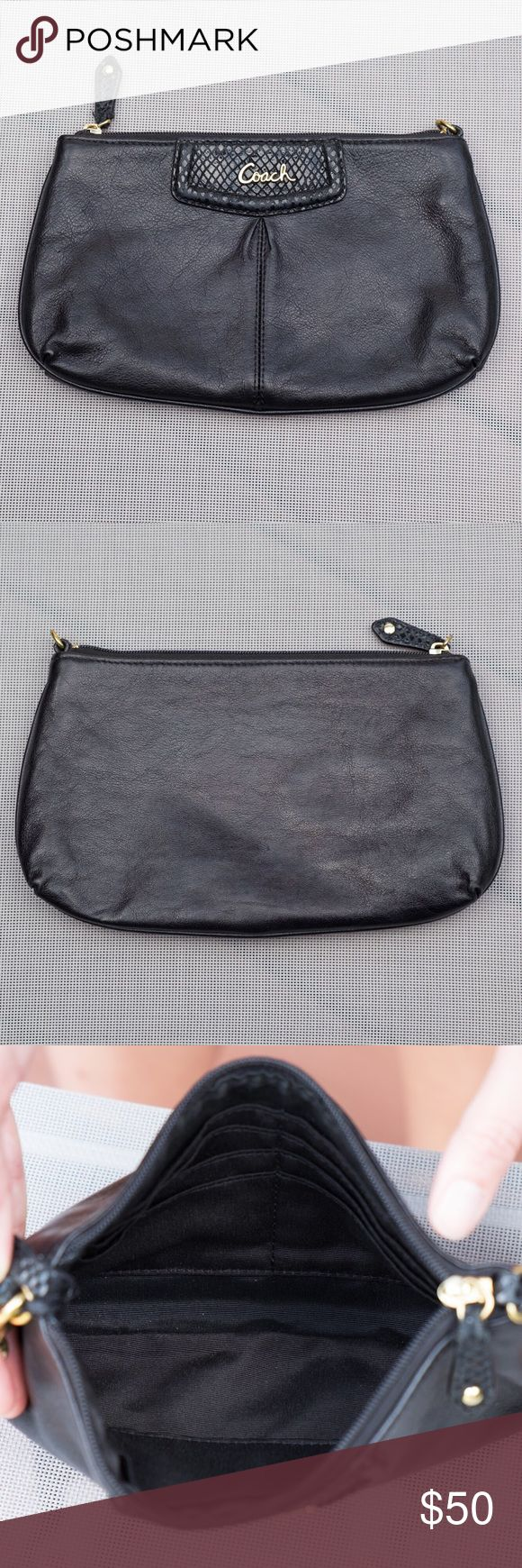 Coach Clutch Leather Coach clutch. Goes with everything! Coach Bags Clutches & Wristlets