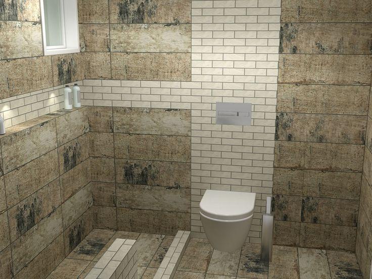 Πλακάκια μπάνιου με διάσταση  20 x 60 cm