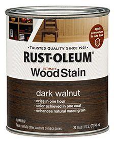 Dark walnut for cabinets
