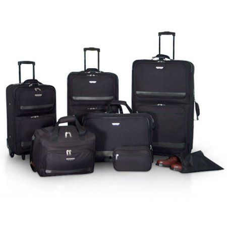 Protege 7-Piece Luggage Set, Black