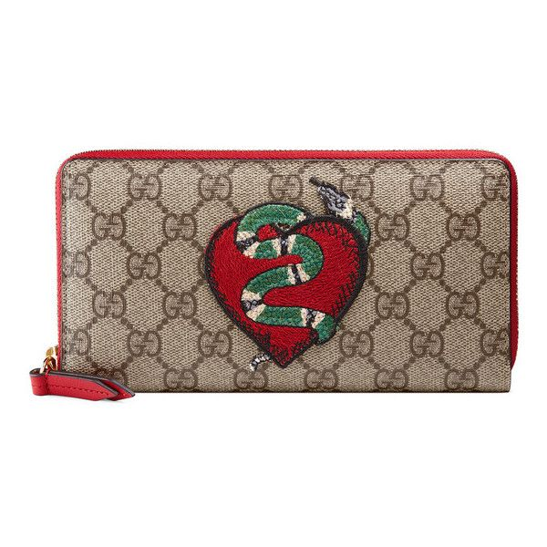 Gucci Limited Edition Zip Around Wallet ($650) ❤ liked on Polyvore featuring bags, wallets, gucci bags, holiday bags, heart bag, gucci and heart shaped bag