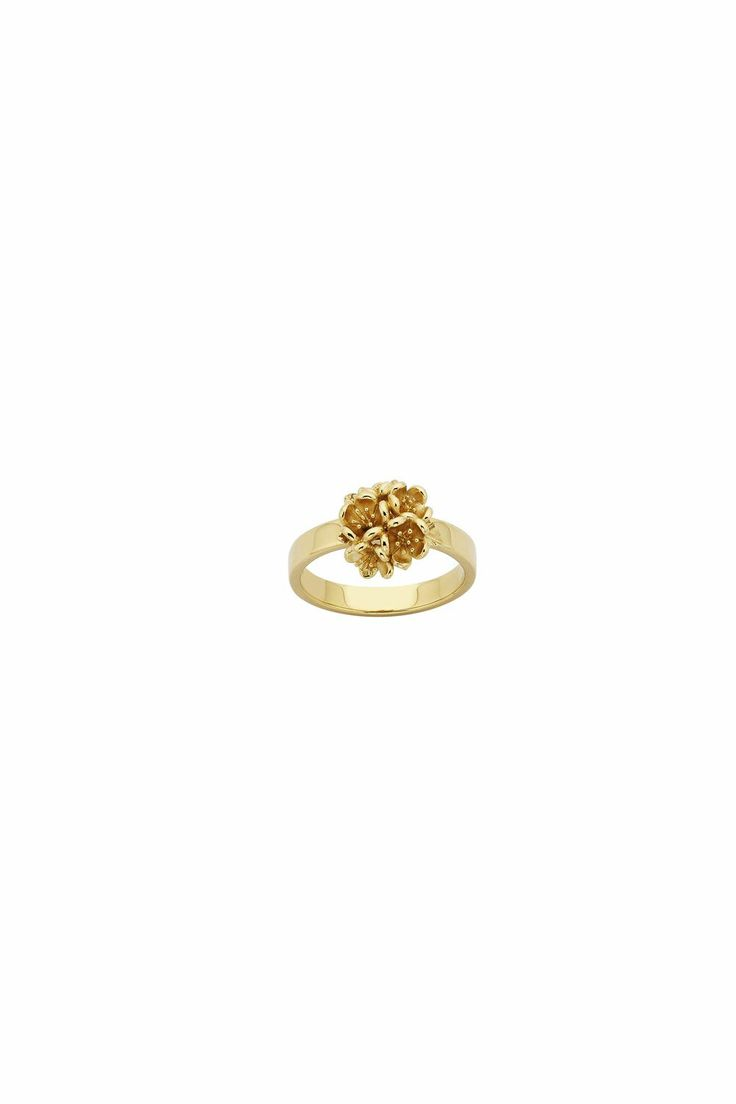 Flower Ball Ring Gold
