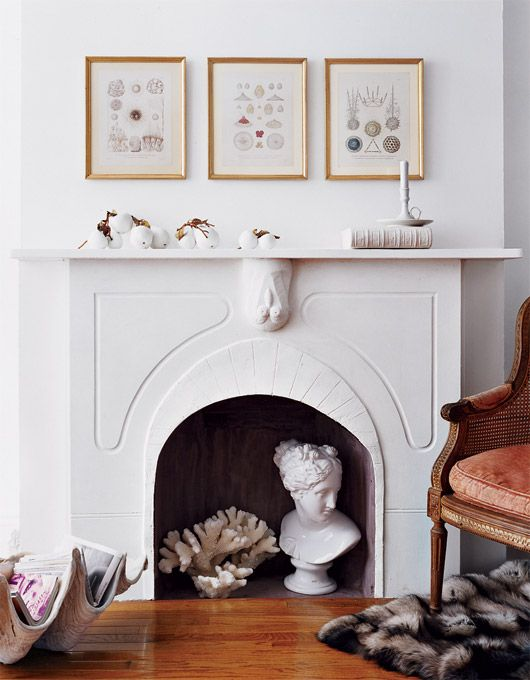 Domino How To Turn An Unused Fireplace Into Art