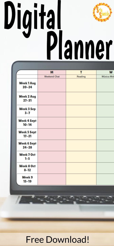 Digital Teacher Planner Variations For Google Drive Lesson Plans