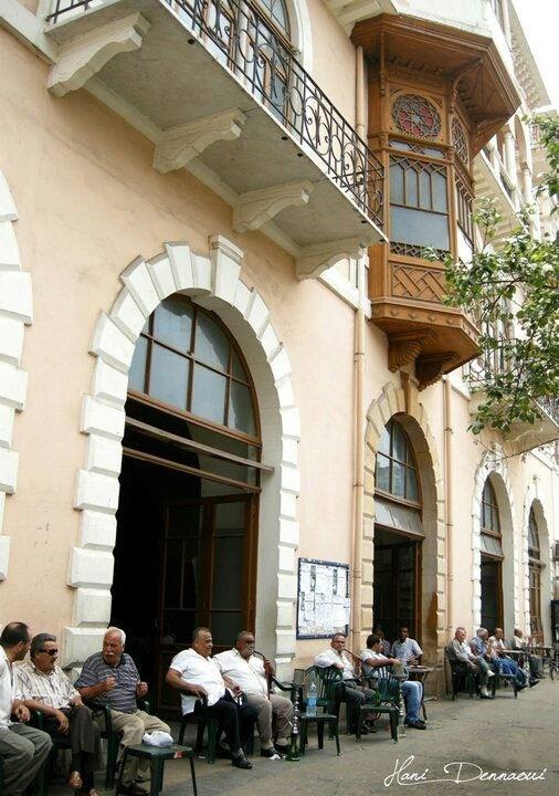 Cafe shop in Tripoli, Lebanon