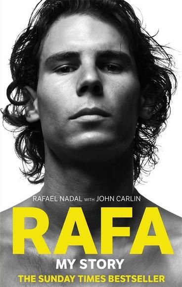 "Rafa: My Story by Rafael Nadal.  No tennis player since Andre Agassi has captivated the world like Rafael Nadal. He's a rarity in today's sporting arena; a true sportsman who chooses to let his raw talent, dedication and humility define him. This autobiography includes memorable highlights such as winning the Wimbledon 2008 final in what John McEnroe called ""the greatest game of tennis ever played"" and completing a Grand Slam after winning the French Open, Wimbledon, and the US Open in 2010."