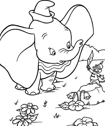 baby disney coloring pages dumbo - photo#22