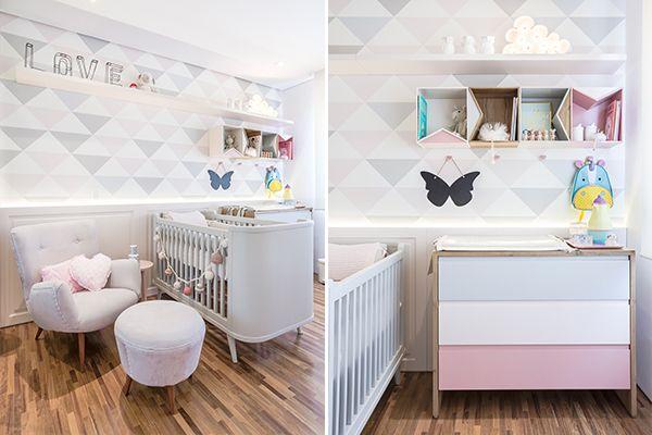 O escritório Figueiredo Fischer Arquitetos projetou um lindo quarto de bebê geométrico para a Nicole. Vem ver todos os detalhes e ideias do decor