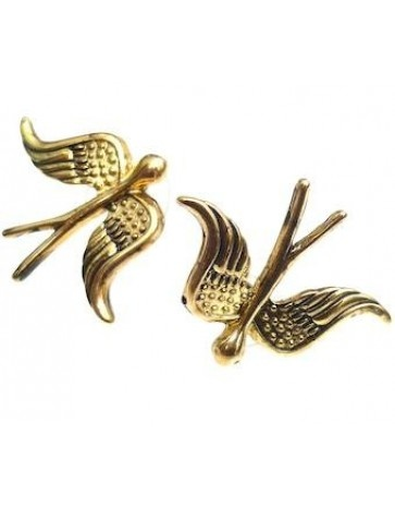 Gold Swallow Earrings - Earrings - Shop Jewellery