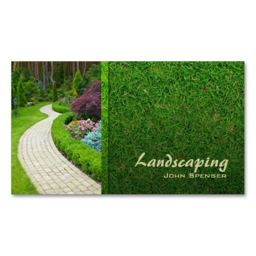 Best Eco Green Business Card Templates Images On Pinterest - Lawn care business card templates
