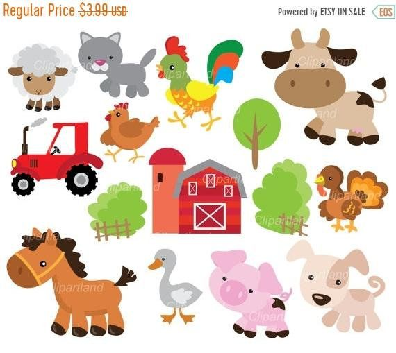 These Images Are Funny This Listing Etsy Banner Clip Art Farm Animals Preschool