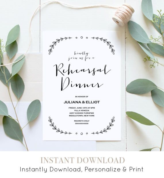 15 best Wedding Rehearsal by MP images on Pinterest Invitation - dinner invite templates