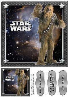 Star Wars starry sky single sheets taken from the bumper kit ( cup777055_78519) card fronts approx. 8x8 inches, includes tag and labels .