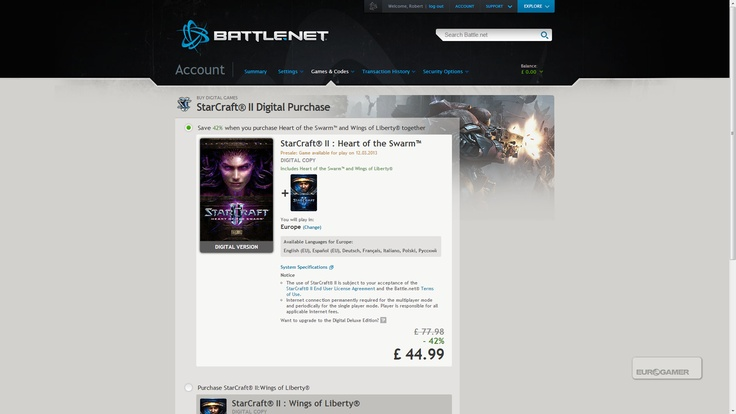 StarCraft 2: Heart of the Swarm release date revealed by Battle.net: March, 2013