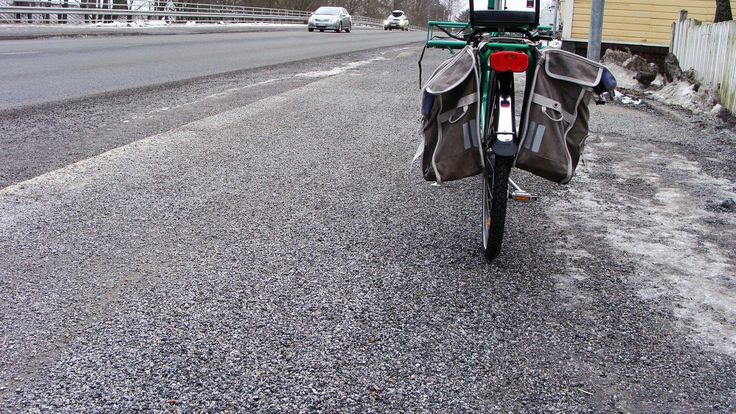 The surface of the cycling lane